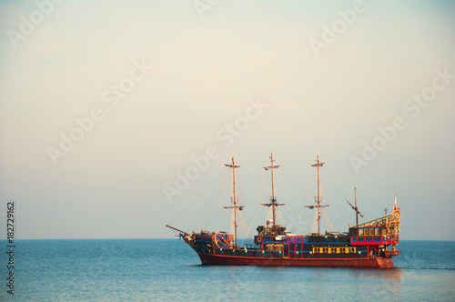 Foto op Plexiglas Schip Ship on the sea