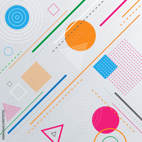 Poster Geometrische dieren Abstract geometric pattern background with shapes.