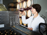 Sommelier woman on winery - 182731157