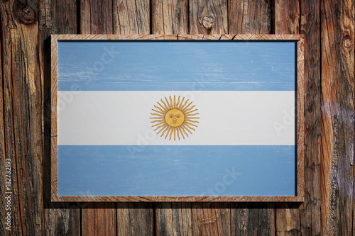 Poster Buenos Aires Wooden Argentina flag