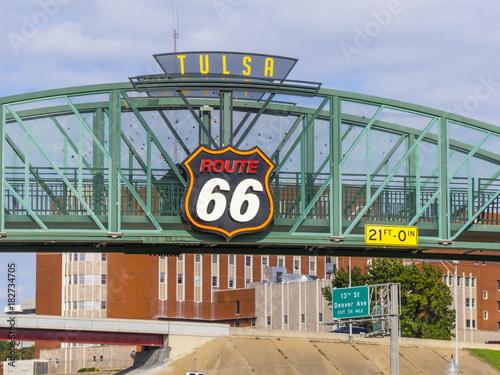 Plexiglas Route 66 Historic Route 66 in Tulsa Oklahoma