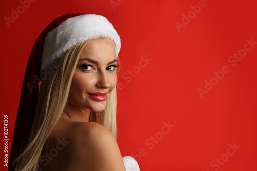 Woman santa claus costume