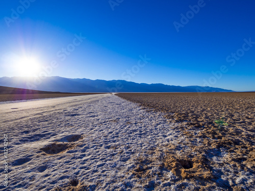 Keuken foto achterwand Lavendel Beautiful scenery at Death Valley National Park California - Badwater salt lake