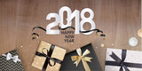 New Year greeting card. Luxurious vector illustration concept for greeting cards, web banner, flayer brochure, party invitation card. - 182750985