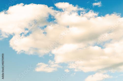 Fototapeta awesome fluffy clouds on blue sky.