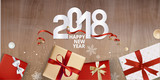 Elegant New Years greeting card. Vector illustration concept for greeting cards, web banner, flayer brochure, party invitation card. - 182751114