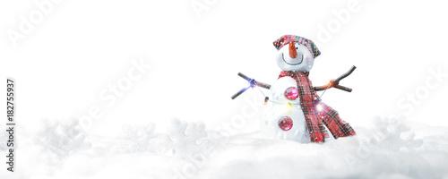 Sticker Schneemann - Weihnachtsmotiv