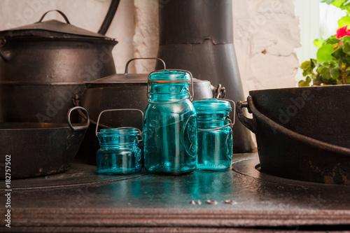 Plakat Blue Mason Jar 2