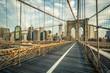 Quadro Famous Brooklyn Bridge in the morning