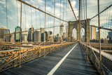 Famous Brooklyn Bridge in the morning - 182757710