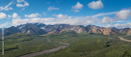 Staande foto Panoramafoto s Stony Hill Overlook Panorama from Denali National Park Highway