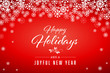 Red Happy Holidays and Joyful New Year Vector Illustration 1