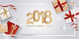 New Year greeting card. Vector illustration concept for greeting cards, website and mobile banners, marketing material. - 182764732