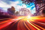 Abstract motion speed background of London City