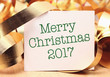 Merry Christmas 2017 with colorful decoration.