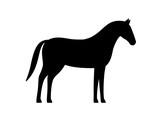 horse, farm animal black icon, vector illustration