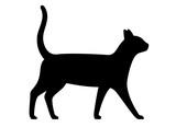 cat, farm animal black icon, vector illustration
