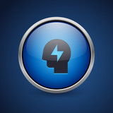 Push Button - Dark Blue Web Icon - 182796107