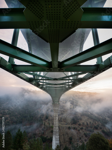 Plexiglas Bruggen Foresthill bridge sunrise 7