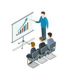 Business presentation isometric 3D icon - 182798335