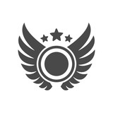 Trophy cup with wings icon - 182798969