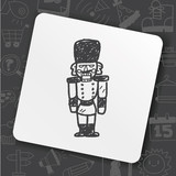 Toy Soldier Doodle Wall Sticker