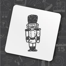 Toy Soldier Doodle Sticker