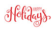 HAPPY HOLIDAYS brush calligraphy vector banner