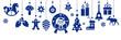 Banner mit dekorativen weihnachtlichen Vektor Illustrationen