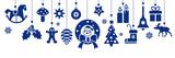 Banner mit dekorativen weihnachtlichen Vektor Illustrationen - 182814797