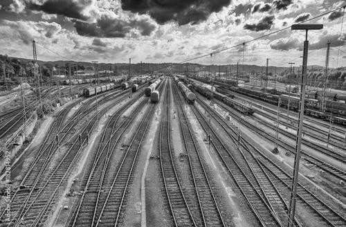 Fotobehang Spoorlijn Verschiebe-Bahnhof