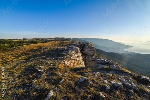 Foto op Aluminium Blauwe hemel landscape