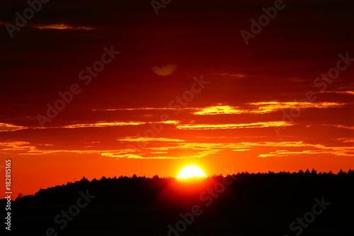 Aluminium Rood paars Sonnenuntergang