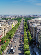 View from Arc de Triomphe down the Champs Elysee, Paris, France
