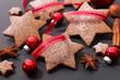 christmas cookies with christmas decoration - 182827379