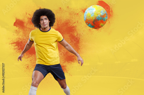 Plexiglas Voetbal soccer player
