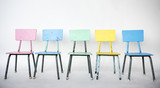 Colorful chair is on a row. - 182827593