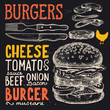 Burger poster for menu restaurant. - 182828512