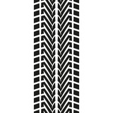 Fototapety Tire tread or track isolated on white background. Tyre print. Vector illustration.