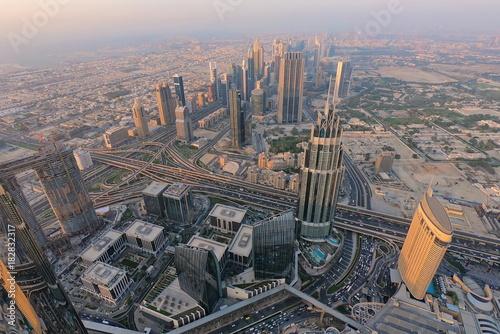 Blick vom Burj Khalifa, Wolkenkratzer in Dubai, höchstes Bauwerk der Welt, Vereinigte Emirate, VAE