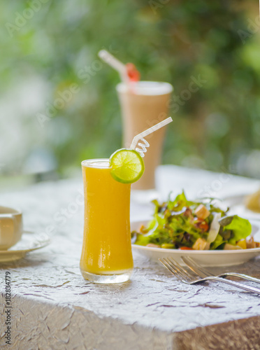 Foto op Plexiglas Milkshake Orange Juice for Health Lovers And weak body A cool drink suitable for hot weather and refreshing