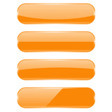 Orange oval buttons with reflection - 182835593