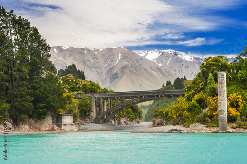 Fotobehang Fyle Bridge over Rakaia River