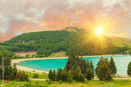 Plexiglas Fyle Lake Tekapo after sunset