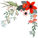 Botanical floral bouquet - 182846390