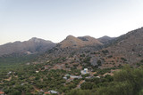 The road along the hills and mountains on the island of Crete. - 182847187