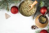 yerba mate christmas background - 182848706
