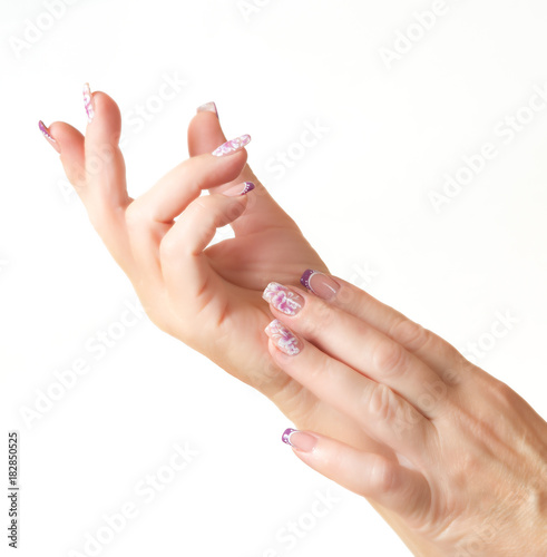 Foto op Plexiglas Manicure Female hands with manicure