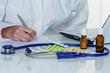 doctor prescribes a drug - 182850760
