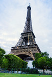 The Eiffel Tower (nickname La dame de fer, the iron lady),The tower has become the most prominent symbol of both Paris and France - 182857548